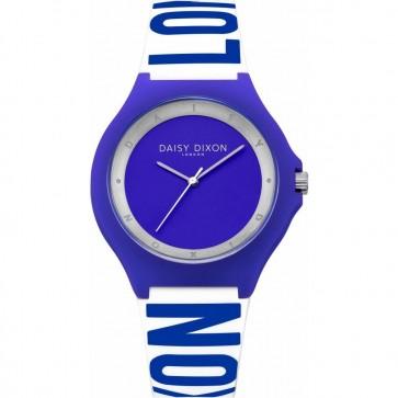 Daisy Dixon Women's Ladie's Quartz Watch With Blue Silicone Strap DD040U