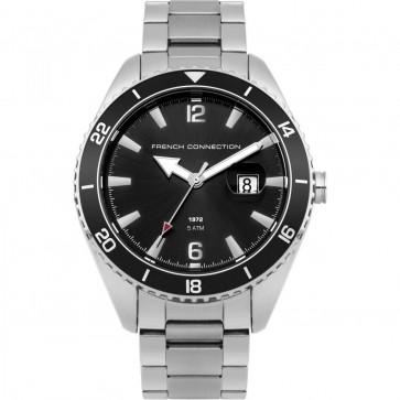 FCUK French Connection Mens Gents Wrist Watch Silver Bracelet FC1309BSM