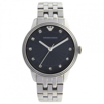 Emporio Armani Ladies Watch Stainless Steel Strap Blue Dial AR1653