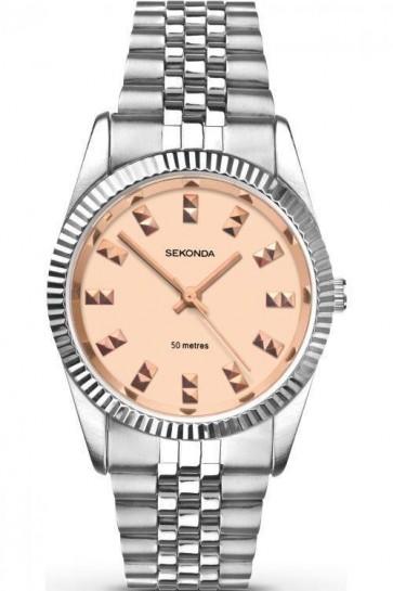 Sekonda Ladies Watch Rose Pink Dial Stainless Steel Case and Bracelet SK2088