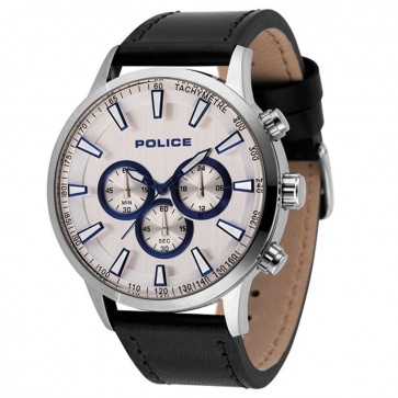 Police Mens Gents Momentum Quartz Chronograph Wrist Watch Silver Dial15000JS/04