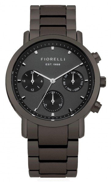 Fiorelli Ladies Womens Wrist  Watch Black Dial Black Face FO029BM