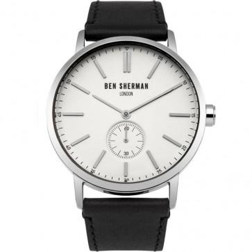 Ben Sherman Mens Big Portobello Watch Brown Strap White Dial WB032S