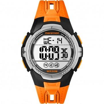 Timex Unisex Quartz Watch With Orange Silicone StrapTW5M06800