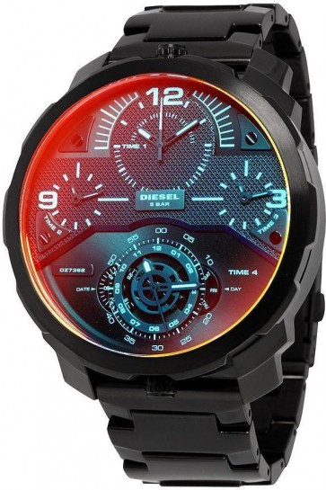 Diesel Mens Machinus  Muti-Time Zone Watch DZ7362