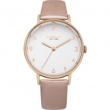 Fiorelli Ladies Watch Gold Bracelet White Dial FO037RG