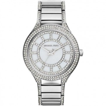 Michael Kors Ladies Kerry Watch Crystal Detail Stainless Steel Bracelet MK3311