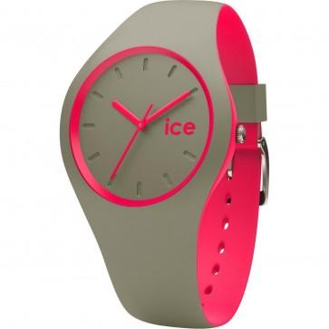 ICE Ladies Womens Ladies Duo Khaki Pink Watch Khaki Strap 001497
