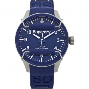 Superdry Mens Gents Scuba Blue Wrist Watch SYG109U