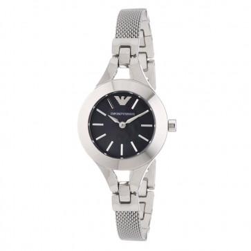 Emporio Armani Ladies Watch Stainless Steel Bracelet Black Dial AR7328