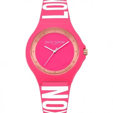Daisy Dixon Women's Ladie's Analogue Quartz Watch With Pink Silicone Strap DD040P