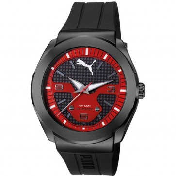 Puma Mens Motorsport Watch Black Silicone Strap PU103931002