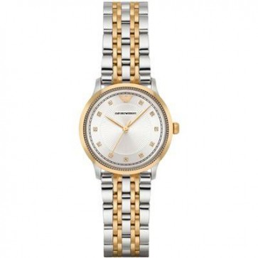 Emporio Armani Ladies Watch Stainless Steel Bracelet Silver Sunburst Dial AR1963