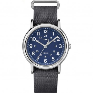 Timex Men's Gent's Quartz Watch With Textile Strap And Blue Face TW2P65700