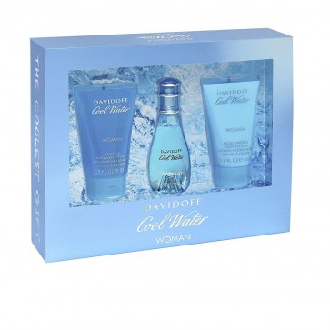 DAVIDOFF COOL WATER WOMAN EDT-S 30ML+ SG50 + BL50