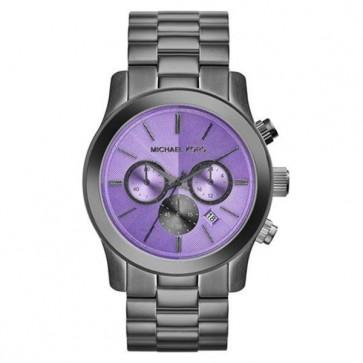 Michael Kors Lexington Ladies Chronograph Watch Two Tone Stainless Steel Bracelet White Dial  MK5955