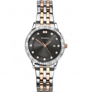 Sekonda Ladies Womens Wrist Watch White Dial Silver Strap 2389