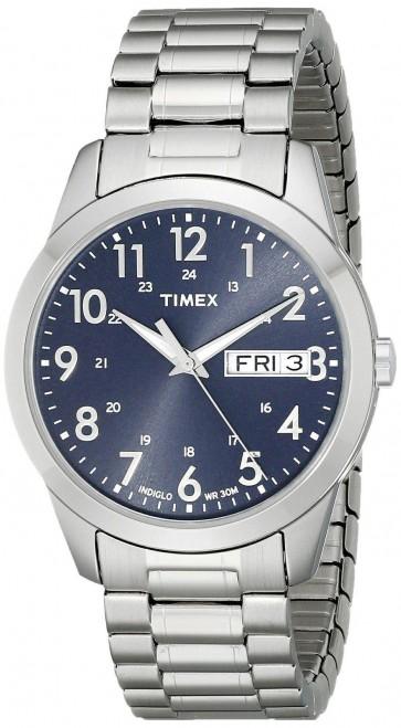 Timex Men's Gent's Quartz Watch With Blue Dial T2M933