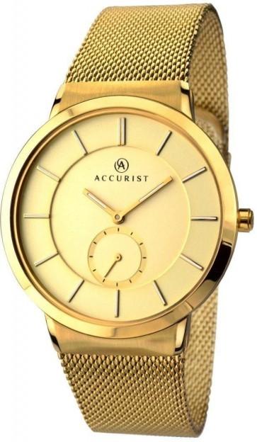 Accurist Mens London Watch Gold Dial Gold Bracelet 7015