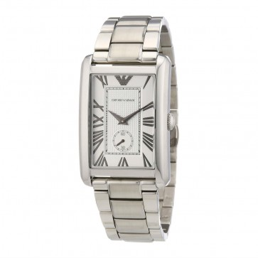 Emporio Armani Mens Watch Stainless Steel Bracelet White Dial  AR1607