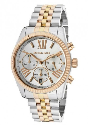 Michael Kors Ladies Lexington Chronograph Watch Stainless Steel MK5735
