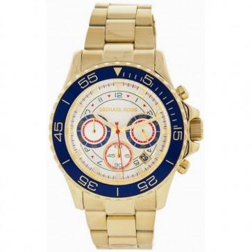 Michael Kors Mens Gents Everest Chronograph Watch Gold Bracelet Gold Dial MK5792