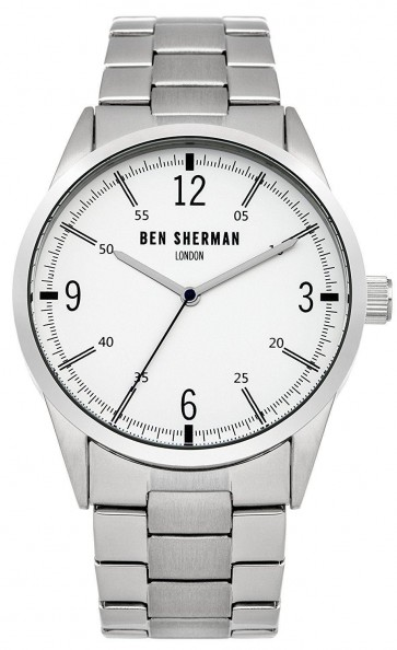 Ben Sherman Mens London Watch Stainless Steel Bracelet White Dial WB051SM