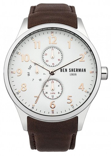 Ben Sherman Mens Gents Watch Brown Strap Black Dial FJ87.03WB