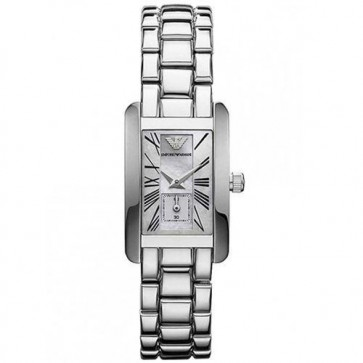 Emporio Armani Ladies Watch Stainless Steel Bracelet White Dial AR0171