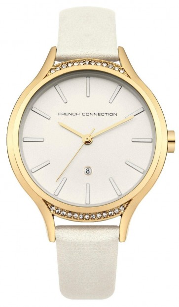 French Connection Womens Ladies Wrist Watch White Strap Face FC1292WG