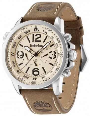 Timberland Mens Gents Quartz Wrist Watch With Leather Strap TBL.13910JS/07