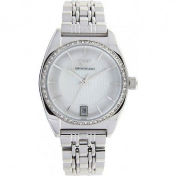 Emporio Armani Ladies Watch Stainless Steel Bracelet Mother of Peral Dial AR0379