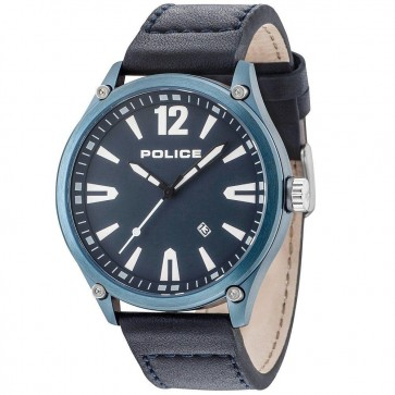 Police Gents Mens Denton Leather Strap Wrist Watch 15244JBBL/03