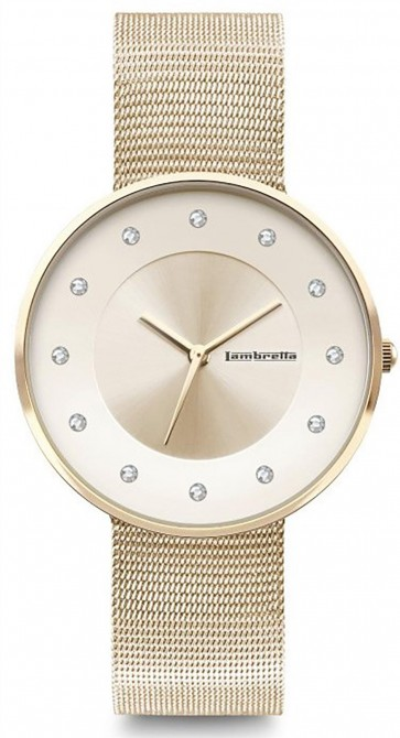 Lambretta Womens Ladies Cielo 34 Wrist Watch Stones Gold 2205GOL