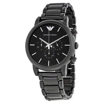 Emporio Armani Mens Chronograph Watch Black Stainless Steel Strap Black Dial AR1895