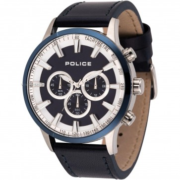 Police Mens Gents Momentum Quartz Chronograph Wrist Watch Black Dial 15000JSTBL/03