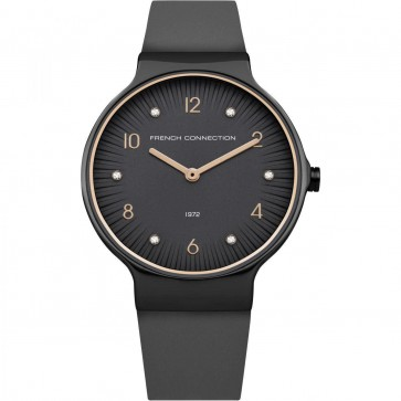 French Connection Womens Analogue  Leather Strap FC1301UM