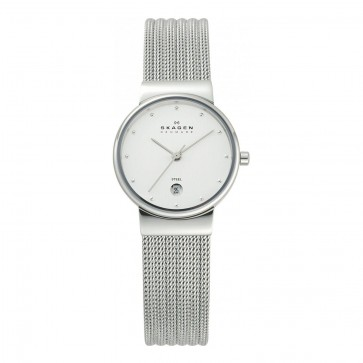 Skagen Ladies Ancher Watch Silver Stainless Steel Mesh Strap 355SSS1