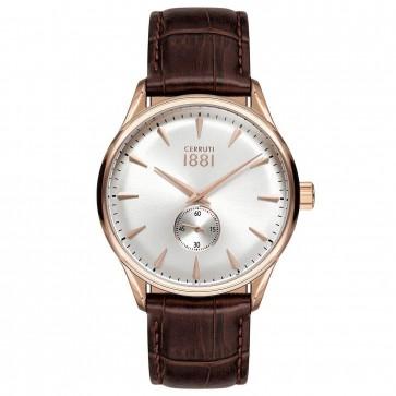 Cerruti 1881 Mens Gents Brown & Gold Designer Wrist Watch CRA24001