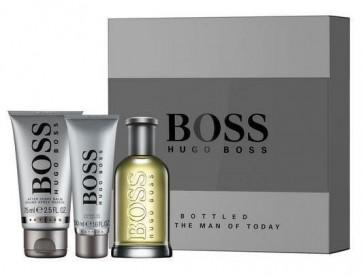 Hugo Boss Bottled Mens Gents EDT-S 100ML + Shower Gel + Shave Balm