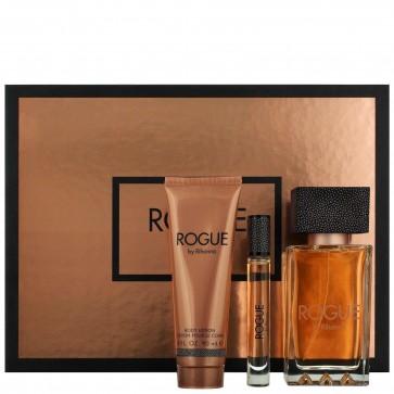Rogue by Rihanna Ladies Womens Eau de Parfum Gift Set 3 piece