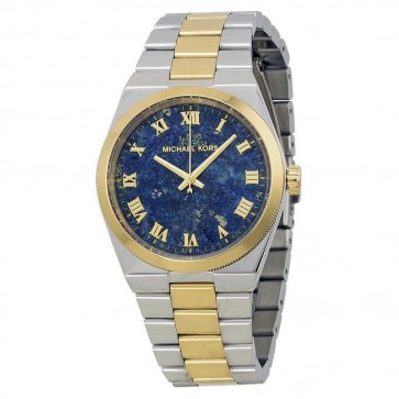 Michael Kors Channing Womens Ladies Watch Two Tone Stainless Steel Bracelet Blue Dial MK5893