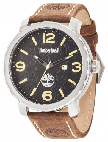 Timberland Pinkerton Men's Quartz Watch Brown Leather Strap14399XS/02