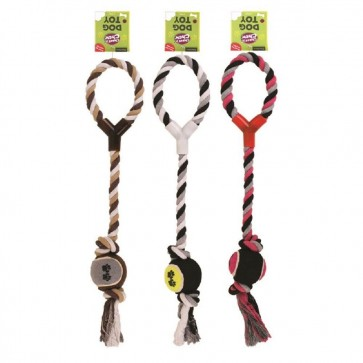 Dog or Puppy Tug Toy With Tennis Ball 2 OR 3 PACK