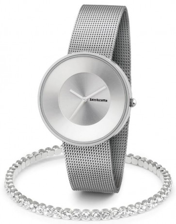 Lambretta Womens Ladies Cielo 37 Wrist Watch Silver Kit 2170SIL
