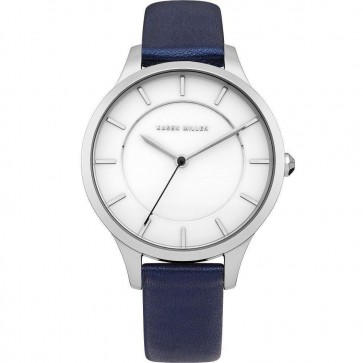 Karen Millen Womens Ladies Wrist Watch Blue Strap KM133UA