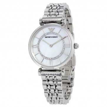 Emporio Armani Ladies Watch Stainless Steel Bracelet White Dial AR1908