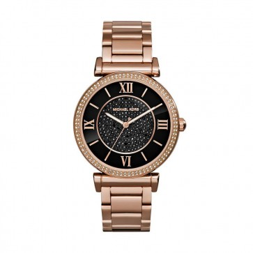 Michael Kors MK3356 38mm Gold Plated Stainless Steel Case Rose Gold Gold Plated Stainless Steel Mineral Women's Watch