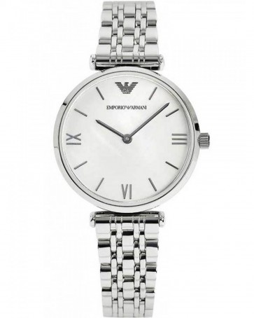 Emporio Armani Ladies Watch Stainless Steel Strap Mother of Peal Dial AR1682