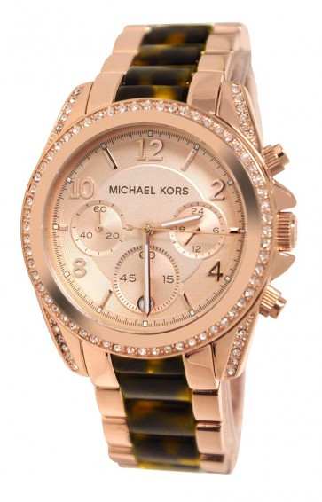 Michael Kors Blair Ladies Chronograph Watch Rose Gold Tortoiseshell MK5859